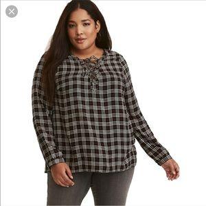 NWT plaid plus size tunic